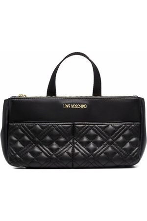 Love Moschino Faux-leather quilted make-up bag