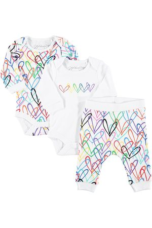 From Babies With Love X James Goldcrown Lovewall bodysuits and jogger set