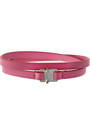 1017 ALYX 9SM Double Wrap Micro Buckle Leather Choker