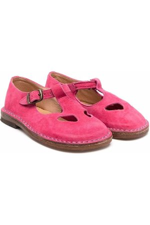 PèPè Buckle-strap ballerina shoes