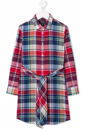 Ralph Lauren Tartan-checked long-sleeve shirtdress