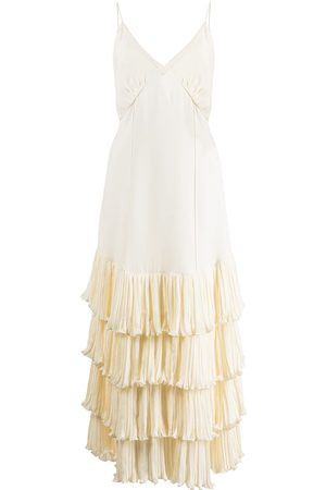 Khaite Myrtle tiered maxi dress