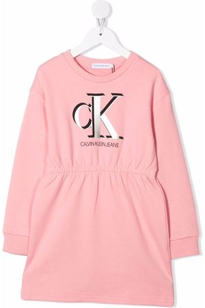Calvin Klein Logo-print organic cotton dress
