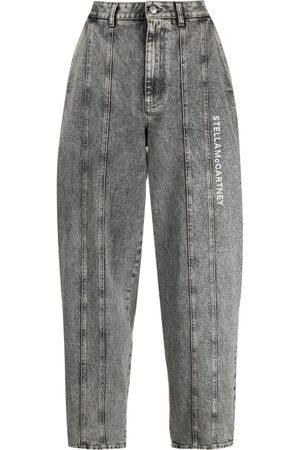 Stella McCartney Stonewash logo-embroidered tapered jeans