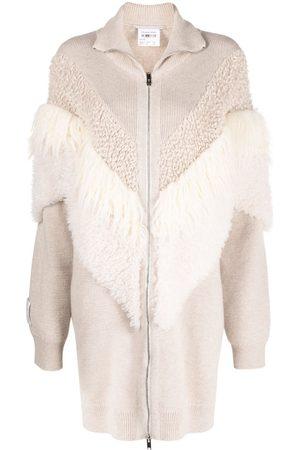 Stella McCartney Textured-panel knitted coat