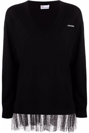 RED Valentino Tulle-trim wool jumper