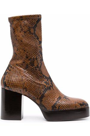 Chloé Dames Laarzen - 90mm snakeskin-effect boots