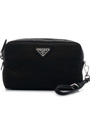 Prada Triangle-logo make-up bag