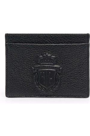 BILLIONAIRE Embossed-logo leather cardholder