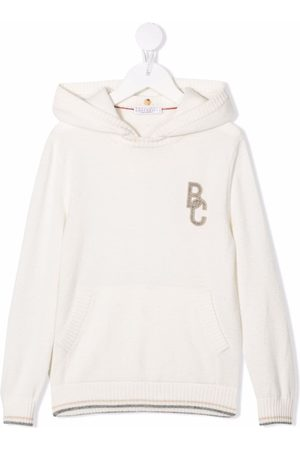 Brunello Cucinelli Logo-patch pullover hoodie