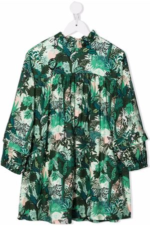 Kenzo Tropical-print midi dress