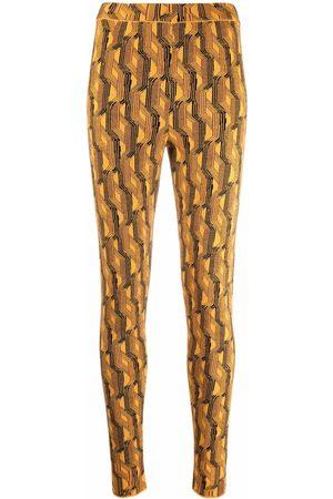 Prada Patterned high-waist leggings