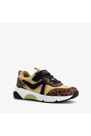 Blue Box Meisjes dad sneakers met luipaardprint