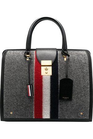 Thom Browne Striped felt tote bag