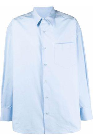 Ami Long-sleeved chest-pocket shirt