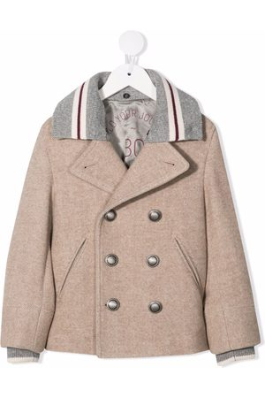 Brunello Cucinelli Contrast-collar double-breasted jacket