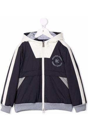 Brunello Cucinelli Colour-block hooded jacket