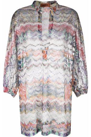 Missoni Zigzag-pattern beach dress