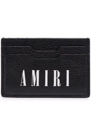 AMIRI Logo-print leather cardholder