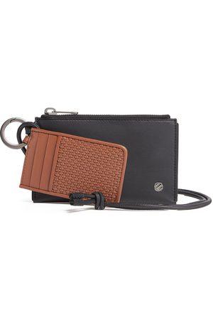 Ermenegildo Zegna Leather Double Mini Clutch