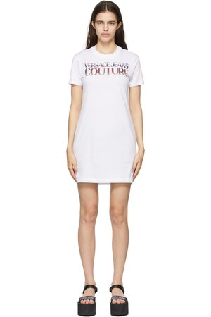Versace Jeans Couture White Beaded Logo T-Shirt