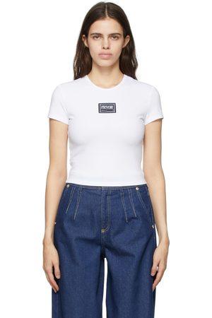 Versace Jeans Couture Dames T-shirts - White Interlock Logo T-Shirt