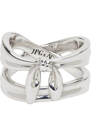 Jean Paul Gaultier Heren Ringen - SSENSE Exclusive Silver Alan Crocetti Edition Double Wrap Bandana Ring
