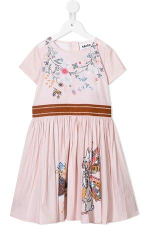 Molo Floral-print short-sleeved dress