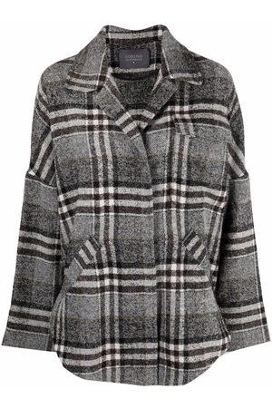 LORENA ANTONIAZZI Checkered shirt jacket