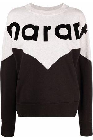 Isabel Marant Dames Sweaters - Two-tone crew neck sweatshirt