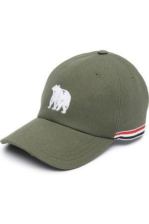 Thom Browne Heren Petten - Bear embroidered RWB stripe baseball cap