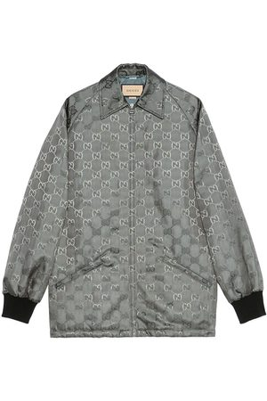 Gucci Monogram-pattern zip-fastening coat