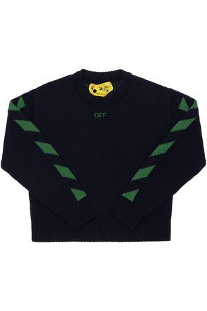OFF-WHITE Logo Wool Knit Sweater
