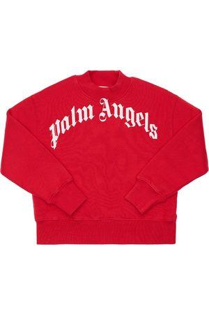 Palm Angels Meisjes Sweaters - Logo Print Cotton Sweatshirt