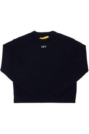 OFF-WHITE Meisjes Sweaters - Logo Jacquard Wool Knit Sweater