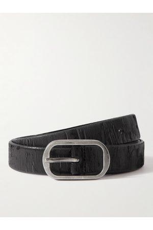 Saint Laurent Heren Riemen - 2.3cm Textured-Leather Belt