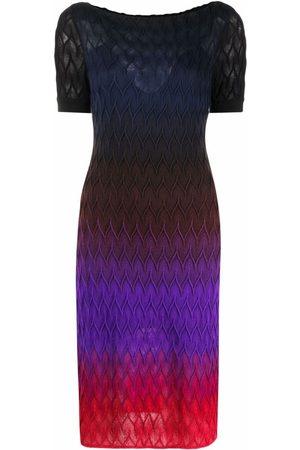 Missoni Signature-knit gradient midi-dress