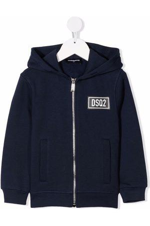 Dsquared2 Jongens Bomberjacks - Logo-patch hooded jacket