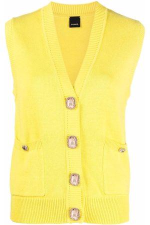Pinko Sleeveless V-neck cardigan