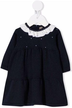 LITTLE BEAR Contrast-trimmed virgin wool dress