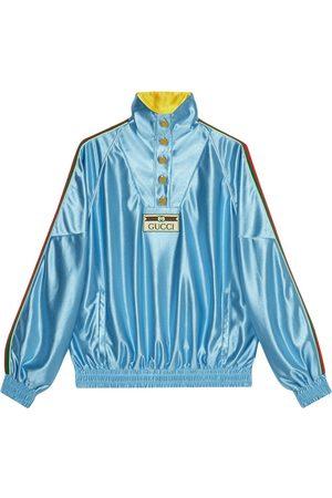 Gucci Web-detail shiny jersey sweatshirt