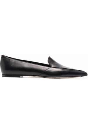 aeyde Martha pointed leather loafers