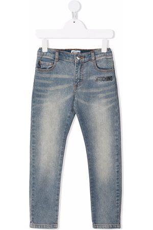 Moschino Toy Bear slim-cut jeans