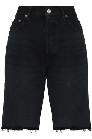 AGOLDE Dames Shorts - Knee-length denim shorts
