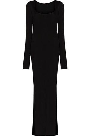 GAUGE81 Dames Feestjurken - Low neck side slit gown