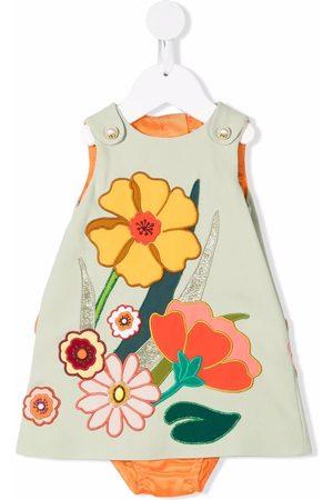 Dolce & Gabbana Meisjes Casual jurken - Floral-embroidered sleeveless dress