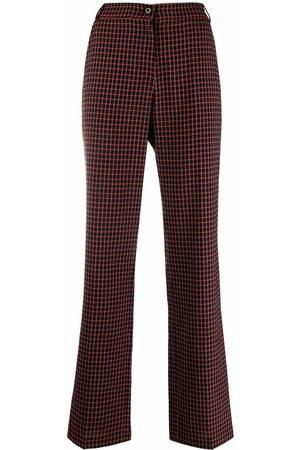 Pinko Dames Wijde broeken - Check-pattern flared trousers
