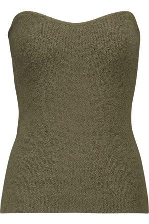 Nanushka Tua ribbed-knit cotton-blend bustier