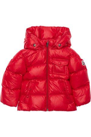 MONCLER Jongens Jassen met bontkraag - K2 Hooded Nylon Down Jacket W/ Fur