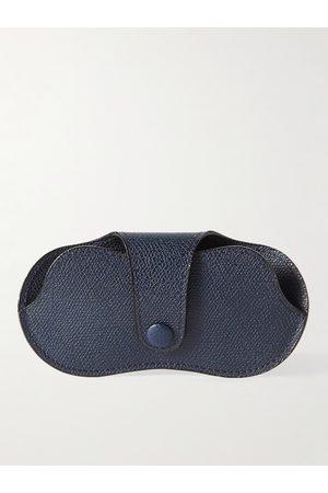Valextra Heren Zonnebrillen - Pebble-Grain Leather Sunglasses Case